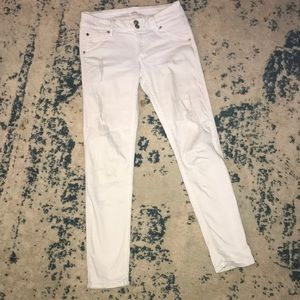 Hudson white skinny ankle jeans